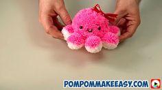 как сделать игрушку осьминога из помпонов