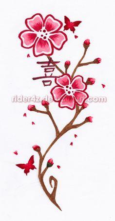 sakura flor tattoo - Buscar con Google