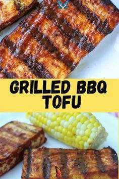Grilled Barbecue Tofu Recipe This Grilled Barbecue Tofu is super easy to make and perfect vegan, plant-based protein for your next BBQ! Great easy healthy 2 ingredient recipe! We love this for dinner.<br> Bbq Tofu, Summer Grilling Recipes, Summer Recipes, High Protein Vegetarian Recipes, Vegan Recipes Easy, Gluten Free Recipes, Light Recipes, 2 Ingredient Recipes