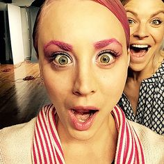 Kaley Cuoco Dyes Her Hair, Eyebrows Bright Bubblegum Pink: Photos - Us Weekly