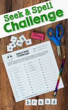 Seek & Spell Challenge - Effective Word Work that Kids Love! Read-to-use printables for 36 mystery words and editable templates to create your own. New from Laura Candler! $