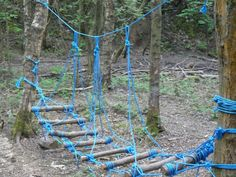 Wacky woods low rope - for under the play structure? Outdoor Play Structures, Outdoor Play Spaces, Kids Outdoor Play, Backyard For Kids, Outdoor Fun, Backyard Playground, Backyard Games, Swing Sets For Kids, Kids Swing