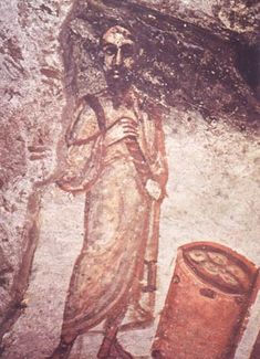 Early Christian Art: early representation of the apostle Paul based on the convention of the philosopher. Early Christian, Christian Art, Roman History, Art History, Tempera, Fresco, Rome Catacombs, Christian Paintings, Black Jesus