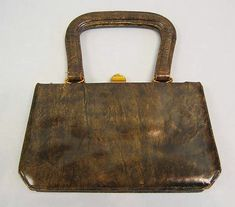 Milch   Purse   German  ca.1958  Leather, metal