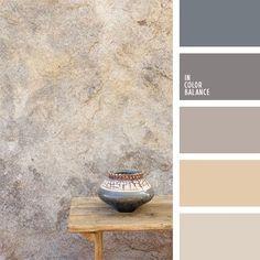 Die Farbpalette von strahlenden und weich verlaufenden Grau-Rosatönen und Rosa-Grautönen. DiesePalette eignet sich für die Gestaltung von Küchen, Badezimm.