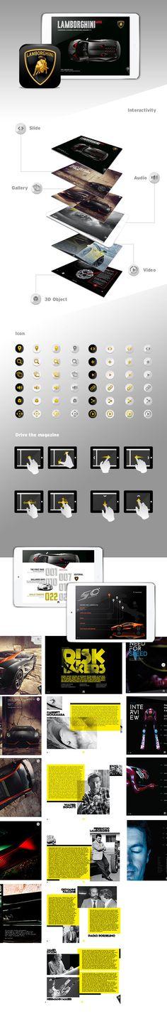 Lamborghini Digital Magazine by Twintip