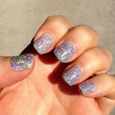 LeChat Hologram Diamond Gel Polish. This pic of my nails doesn't even do it justice. I get compliments all the time. I love this stuff! heidirose10