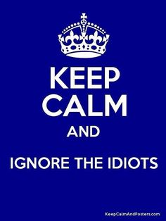 keep calm and ignore the idiots/Yes Def because they are every where. keep calm and ignore the idiots/Yes Def because they are every where. Positive Quotes, Motivational Quotes, Funny Quotes, Life Quotes, Inspirational Quotes, Drake Quotes, Quotes Quotes, Idiot Quotes, Sport Quotes