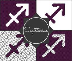 Sagittarius Zodiac Pattern Blocks