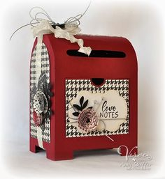 Mini Postal Drop Box by PickleTree - Cards and Paper Crafts at Splitcoaststampers Valentine Special, Love Valentines, Valentine Crafts, Valentine Day Cards, Valentine Mailboxes, 3d Paper Projects, 3d Paper Crafts, Scrapbook Box, Scrapbooking