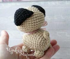 pug dog amigurumi pattern