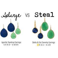 Splurge versus Steal: Ippolita versus Stella & Dot, created by stellashea