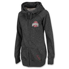 Stay cozy in this Zull Zip Long NCAA Women's Hoodie.  Features drawsrting hood, ribbed cuffs and waistband.  Also features team logo on chest and embroidered team name on the kangaroo hand pockets.