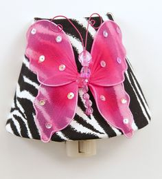 snazzy zebra & pink butterfly nightlight /butterfly chandeliers - Google Search