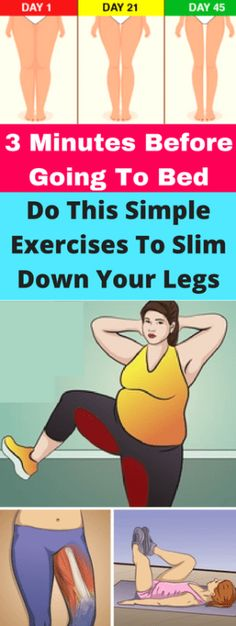 3 Minutes Before Going To Bed, Do This Simple Exercises To Slim Down Your Legs! Some people love to exercise; they get into fitness and work out several times a week. Some of us though, would rather watch Netflix and chill out instead of head to the gym. Fitness Workouts, Easy Workouts, Fitness Diet, At Home Workouts, Fitness Motivation, Health Fitness, Funny Fitness, Fitness Legs, Enjoy Fitness
