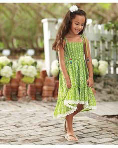 spring green girls dress