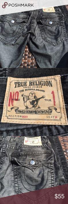 True Religion Men's 30 x 34 Ricky Cords True Religion Men's Cords, size 30 x 34, Ricky Style, 5 pockets, Cords. True Religion Pants Corduroy