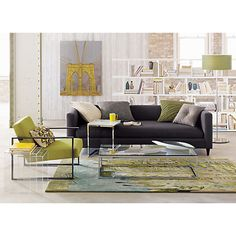 movie steel sofa in sofas   CB2  like the chair and the couch for the kitchen corner