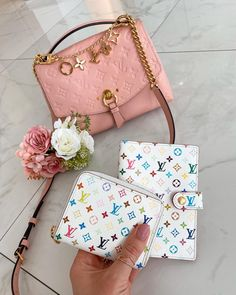 Todays babes 🥰🌸 . . . Oh god, I'm so glad I got the multicolor pieces in my collection 🙏 🌈 I can't decide which colour I like the most on these pieces! What's ur favourite colour??? 🌈 . . . My Collection, Louis Vuitton Handbags, Favorite Color, Coin Purse, Purses, Wallet, Louis Vuitton Bags, Bags, Handbags