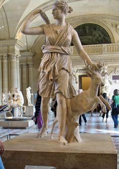 Goddess Artemis (Goddess of Hunting, Wilderness, Wild Animals, Childbirth and Protector of Young Girls Childhood)