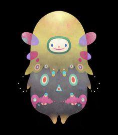 Cosmos by Dric , via Behance  귀여운 캐릭터 조형  두 개의 얼굴을 가진듯한 디자인  우주에 어울리는 색감  회색과 민트색, 자주색의 색지정