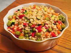 Insalata di grano con verdure