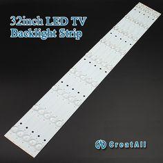 "2pcs x 32""inch Aluminum Plate LED Strips w/ Optical Lens Fliter TV Panel Backlight Lamps Length 631mm 9pcs led"