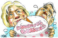 """DULCE Para los aspirantes a la Casa Blanca, recibir donativos de los puertorriqueños de la Isla es un """"piece of cake"""". O en castizo, pan comido. Lo paradójico es que las únicas boletas que se introducirán en sus urnas, léase bolsillos, serán los billetes verdes, porque lo que se dice votos-votos, esos que se cuentan y otorgan victorias electorales, de esos no recibirán ninguno. Peculiaridades del estatus de Puerto Rico. Pero Hillary Clinton y Jeb Bush, que entre ambos han levantado casi…"""
