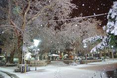 Snow in the Plaza de Soller 2012