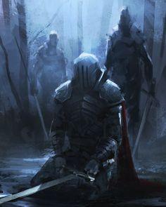 Fantasy Armor, Medieval Fantasy, Dark Fantasy Art, Fantasy Character Design, Character Art, Knight Art, Fantasy Inspiration, Dark Souls, Surreal Art