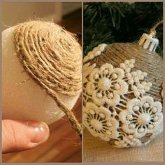 Do you want to learn how to make Christmas balls at home? Making Christmas crafts . Christmas Ornament Crafts, Burlap Christmas, Christmas Projects, Christmas Holidays, Christmas Crafts, Christmas Balls, Christmas Recipes, Christmas Cookies, Christmas Wreaths