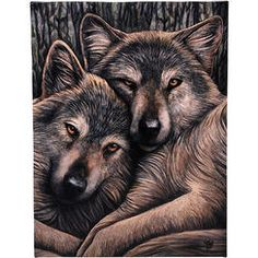 "Lisa Parker Loyal Companions Plaque Wolf 10"" x 7"""