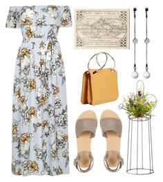 """""""Twas Lovely"""" by rachstella ❤ liked on Polyvore featuring River Island, Eichholtz, Ancient Greek Sandals, Roksanda, Menu and National Tree Company"""