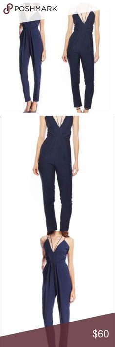GRACIA Strappy Jumpsuit NWT Navy blue, jumpsuit. Polyester blend Gracia Pants Jumpsuits & Rompers