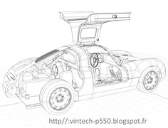 VINTECH Porsche 550-line drawing