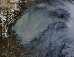 Haze in central China