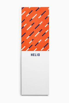 Helio by Bedow, Sweden. #branding #print #notepad