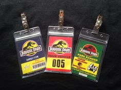 Jurassic park badge by Cosplayincorporated on Etsy