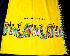 www.cewax.fr aime la boutique de TessWorldDesigns sur Etsy / Jaune Kikoy de Tanzanie / Safari Kikoy tissu imprimé / paréo en coton / Kikoy écharpe / Multi usage de coton en Afrique de l