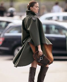 For some reason I love capes and ponchos on women.