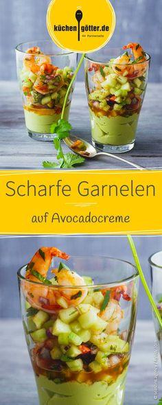 Wenn das keine erstklassige Vorspeise ist, dann wissen wir auch nicht weiter. Leicht zuzubereiten und trotzdem mit Wow-Effekt: Unsere Avocadocreme mit Scampi!