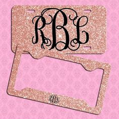 JERSEY GIRL METAL PINK LETTERS License Plate Frame Tag Holder