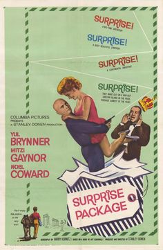 """""""Surprise Package"""" (1960) starring Yul Brynner & Mitzi Gaynor on Antenna TV -- 1/2/2013 (Wed) at 9a ET, 1/3/2013 (Thu) at 5a ET & 1/5/2013 (Sat) at 3a ET."""