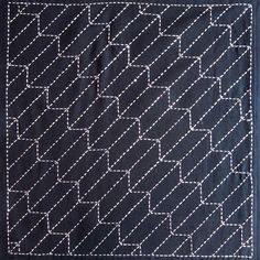 japanese embroidery patterns | Japanese sashiko fabric Yabane Arrow panel by kallistiquilts