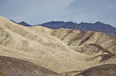 Shapes and colors of Death Valley National Park, California