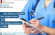 Apex medicare is one of the leading medical tourism companies based in India, New Delhi who provides you excellent healthcare programs and services along with memorable holidays in India. Our Company offers you affordable, high quality medical solutions and has served number of patients from all over the world.http://www.apexmedicare.com/