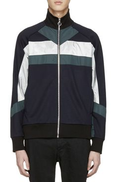 Tim Coppens Navy XTC Track Jacket from SSENSE (men, style, fashion, clothing, shopping, recommendations, stylish, menswear, male, streetstyle, inspo, outfit, fall, winter, spring, summer, personal)