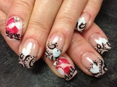 Very Valentine's Day Nail Art - www.nailsmag.com/...