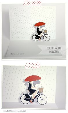 pop up card designs 'Münster' 3d Cards, Pop Up Cards, Paper Cards, Pop Up Karten, Tarjetas Pop Up, Popup, Origami, Paper Pop, Hand Made Greeting Cards