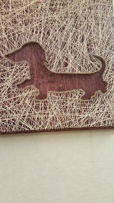 String Art Daughtsund by PawtiqueCollars on Etsy